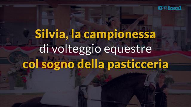 Silvia, la campionessa di volteggio equestre col sogno della pasticceria