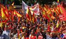 Madrid, spagnoli in piazza per sostenere l'unità nazionale