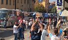 L'arrivo dei tifosi della Spal a Bologna
