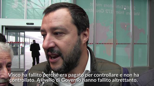 """Bankitalia, Salvini: """"Su Visco ha ragione Renzi, il governatore dovrebbe dimettersi"""""""
