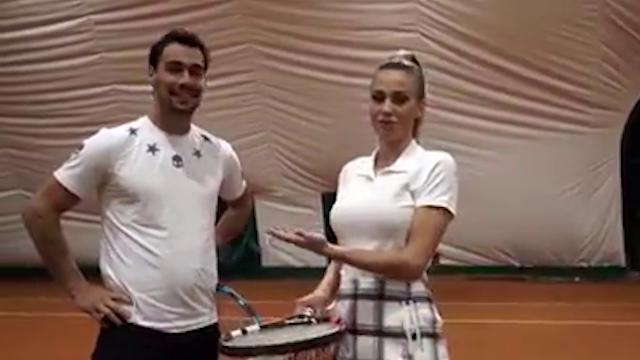 Fabio Fognini vs Diletta Leotta: l'improbabile sfida a tennis