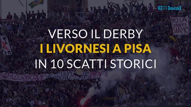 Verso il derby, 10 storici scatti dei tifosi livornesi a Pisa