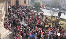 La marcia dei bambini, l'arrivo in piazza del Municipio