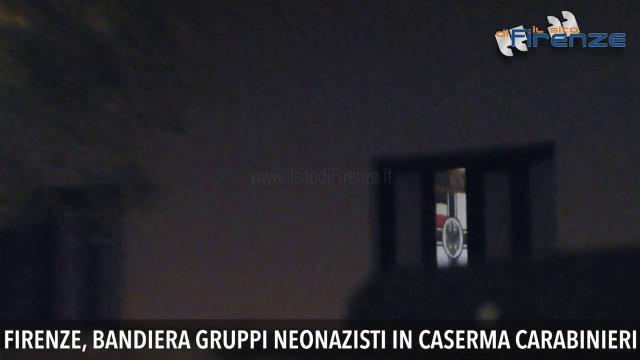 Firenze, bandiera neonazista affissa nella caserma dei carabinieri