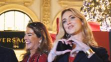 Chiara Ferragni accende il Natale con il Digital Christmas Tree di Swarovski