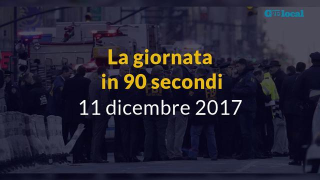 La giornata in 90 secondi,11 dicembre 2017