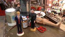 Napoli, Trump e Kim in cella nel presepe