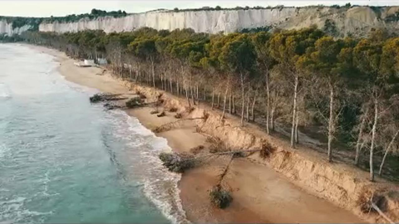 Erosione costiera di Eraclea Minoa. Si attende un intervento provvisorio