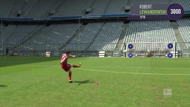 Germania, come nel videogioco: la sfida a calci di punizione dei giocatori del Bayern