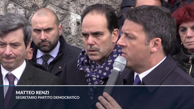 Renzi a Sant'Anna di Stazzema: ''Chi non è antifascista è indegno della comunità democratica''