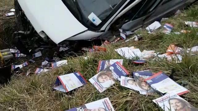 Si schianta a Cavaso il furgone che trasporta volantini elettorali
