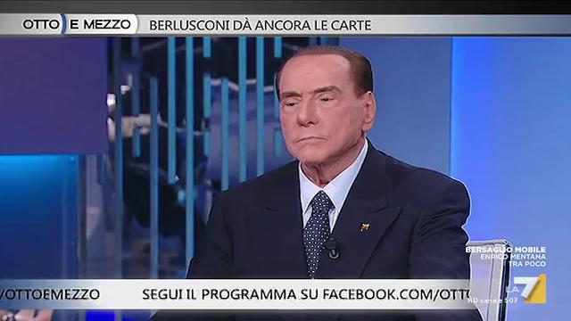 """La7, Berlusconi: """"Divorzio con Lario? Non volevo nulla ma lei ha deciso di fare ricorso"""""""