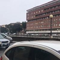 Maltempo in Toscana, nevischio sugli Scali D'Azeglio a Livorno