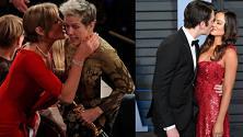 Oscar 2018, tutti i baci nella notte dorata del cinema