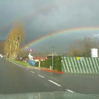 Lucca, lo spettacolo del doppio arcobaleno