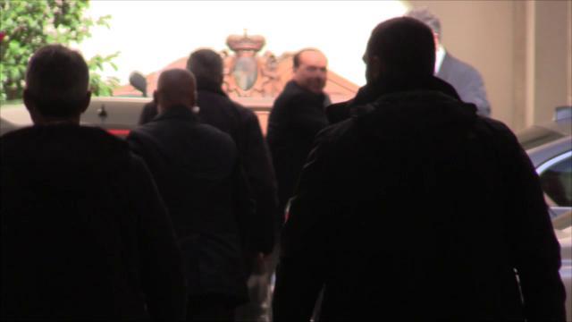 Governo, l'arrivo dei tre leader a Palazzo Grazioli per il vertice di centrodestra