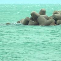 Freddo polare in Costiera amalfitana, il mare si colora di verde