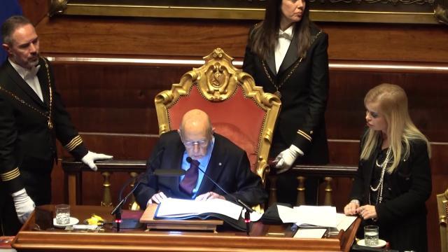 """Senato, 312 schede bianche. La battuta di Napolitano: """"Omaggio a Nanni Moretti"""""""