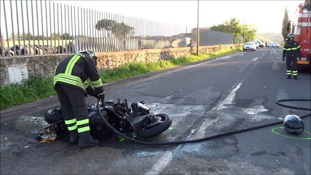 Sassari, schianto auto-moto a Caniga: 2 feriti gravi