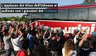 L'applauso dei tifosi dell'Udinese al Crotone e i cori contro la società