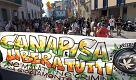 Canapisa, sfilano in più di tremila tra slogan e canne