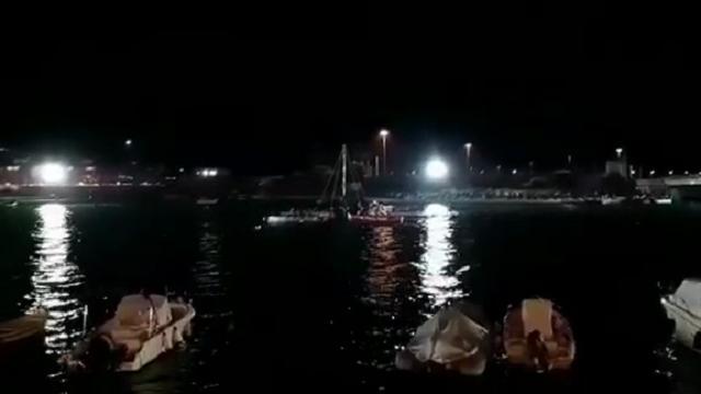 Livorno, Palio dell'Antenna 2018: il momento dell'arrivo
