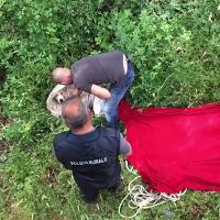 Il salvataggio di un cane lanciato dal ponte sul Calich ad Alghero