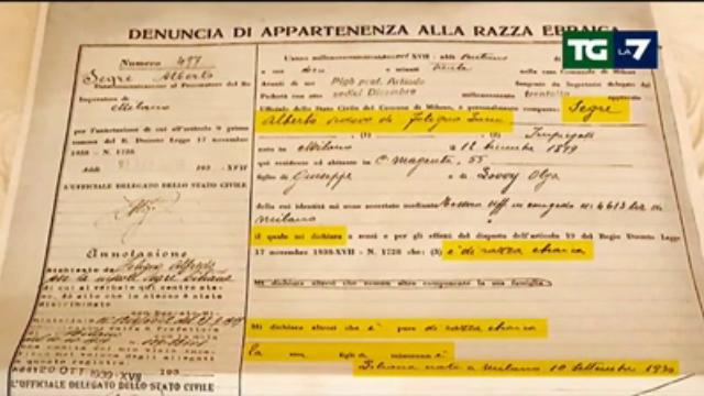 Salvini propone censimento rom, Mentana mostra in tv la schedatura della razza ebraica
