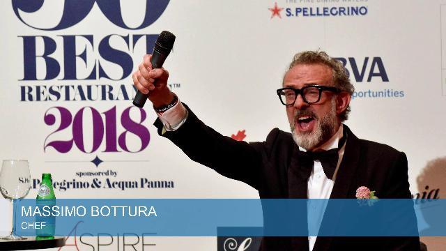 """Bottura primo tra i 50 Best Restaurants: """"Un colpo per tutta l'Italia, festa a gavettoni"""""""