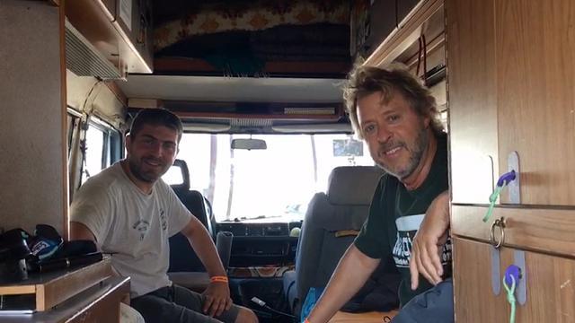 Martino e Franco, in camper a Padova per i Pearl Jam