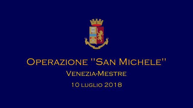 """Il video della questura sull'operazione """"San Michele"""""""