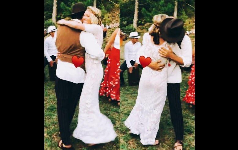 Robin Wright sposa (in segreto) Clement Giraudet, il video della figlia Dylan Penn