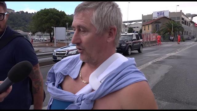 """Genova, crolla ponte Morandi. Il camionista sopravvissuto: """"Un boato e sono volato via"""""""