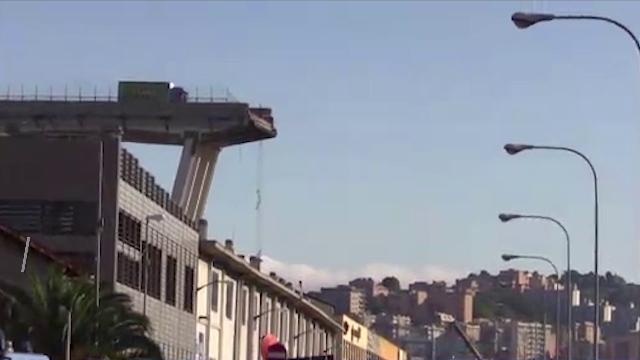 Genova, crolla il ponte Morandi: il disastro in un minuto