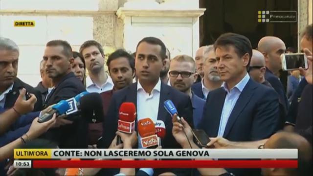 """Genova, crollo ponte Morandi. Di Maio: """"Autostrade pensa al profitto, non alle vittime"""""""