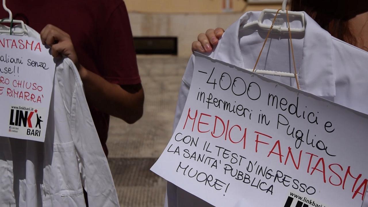 Test di medicina a bari la protesta di link mancano i for Numero abitanti di bari