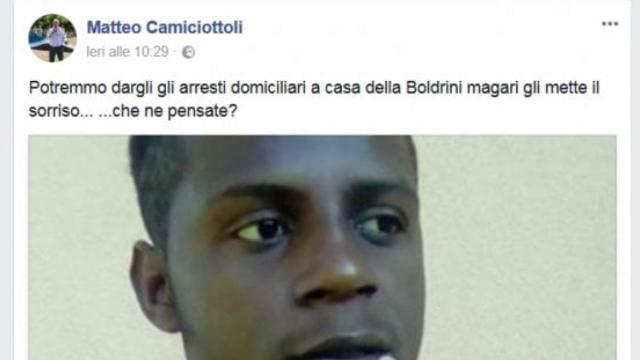 """Augurò stupro a Boldrini, il sindaco leghista: """"In realtà era un attacco politico"""""""