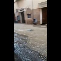 Temporale a Oristano, la via Dritta si trasforma in un torrente