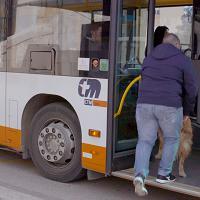 Andrea, non vedente, sale sul bus del Ctm: la App Businder lo ha guidato sino alla fermata