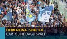 Fiorentina-Spal, cartoline dagli spalti