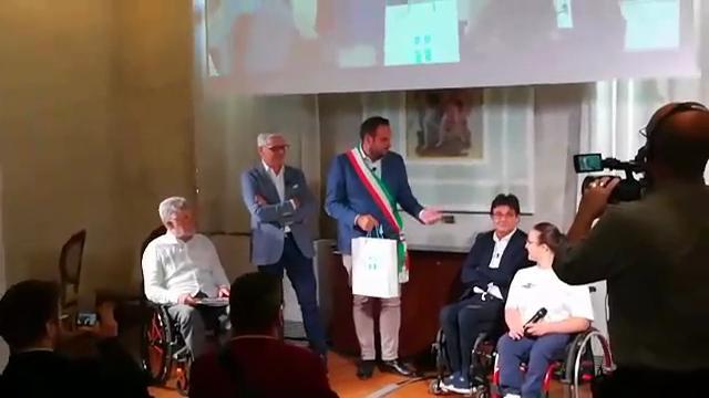Il comitato italiano paralimpico ricevuto dal sindaco di Treviso Conte