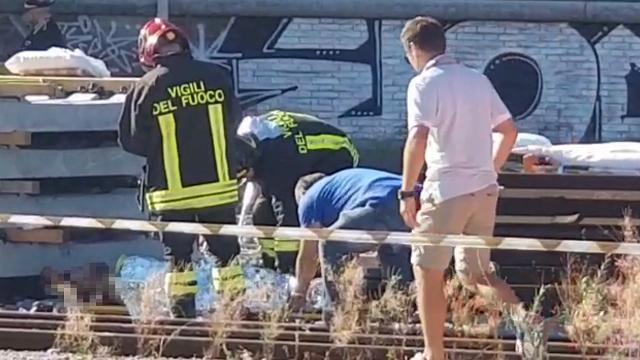 Belluno, esplosione in stazione: l'intervento dei vigili del fuoco