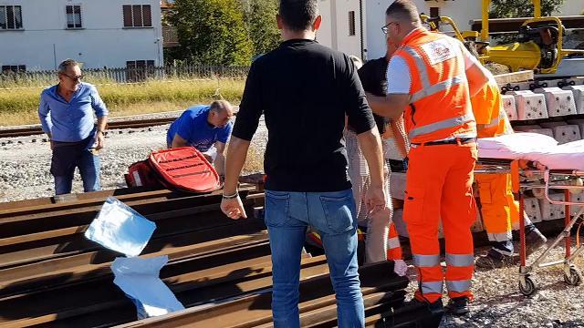 Esplosione in stazione a Belluno, i soccorsi ai feriti