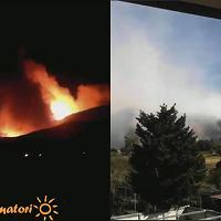 Inferno sul monte Serra: dall'inizio delle fiamme alla devastazione, il timelapse dalla webcam