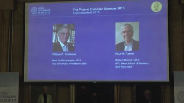 Premio Nobel per l'Economia assegnato a Nordhaus e Romer