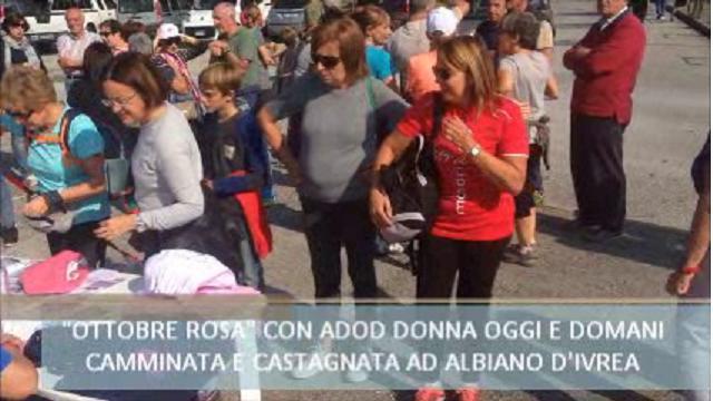 Albiano, ottobre rosa con Adod Donna, camminata e castagnata