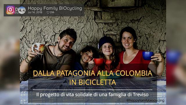 Da Ushuaia a Bogotà in bicicletta, il progetto di vita solidale di una famiglia di Treviso