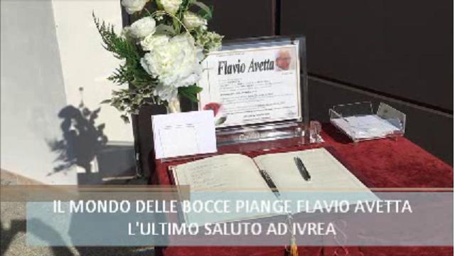 Ivrea, l'addio a Flavio Avetta, campione di bocce