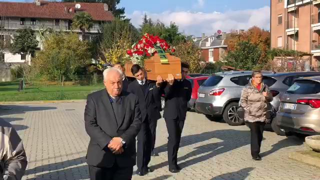Ivrea, un momento del funerale di  Adriana Zito