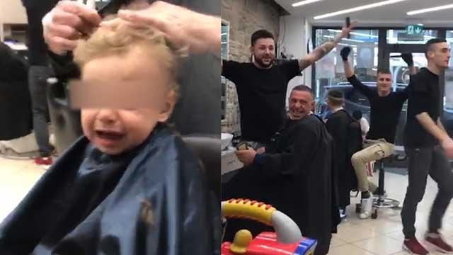 """""""Ci son due coccodrilli"""": tutto il negozio in coro per il bambino che piange dal barbiere"""